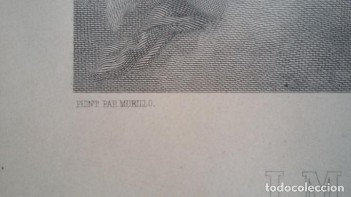 Arte: GRABADO ORIGINAL FINALES S. XIX - LA INMACULADA CONCEPCIÓN DE MURILLO - IMPRESO POR GOUPIL - Foto 11 - 140524718