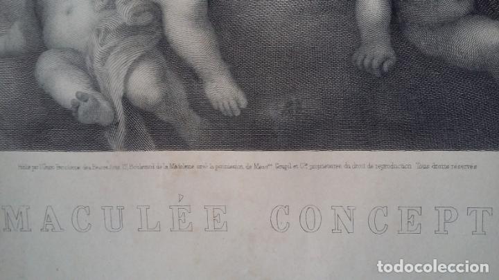 Arte: GRABADO ORIGINAL FINALES S. XIX - LA INMACULADA CONCEPCIÓN DE MURILLO - IMPRESO POR GOUPIL - Foto 12 - 140524718