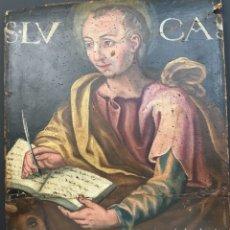 Arte: ÓLEO SOBRE TABLA. SAN LUCAS. S. XVI ESCUELA ESPAÑOLA. Lote 140559086