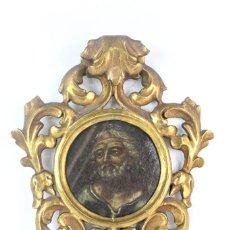 Arte: CORNUCOPIA DE MADERA CON ÓLEO SOBRE TELA, MOISÉS. PRINCIPIOS DEL S XIX. Lote 140691598