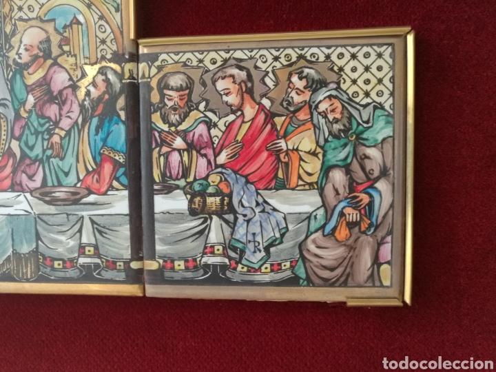 Arte: SANTA CENA PINTADA SOBRE RETABLO DE AZULEJOS - Foto 5 - 140734548