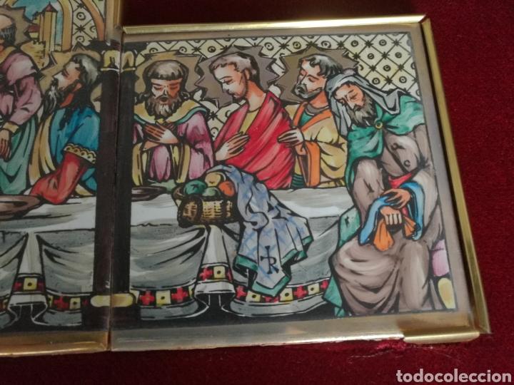 Arte: SANTA CENA PINTADA SOBRE RETABLO DE AZULEJOS - Foto 8 - 140734548