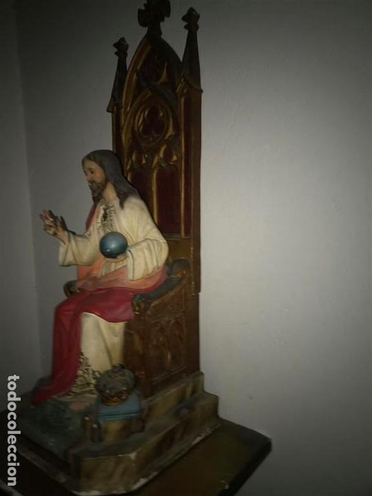 Arte: Sagrado Corazón de Olot con peana, - Foto 5 - 140780094