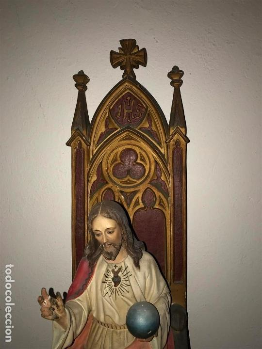Arte: Sagrado Corazón de Olot con peana, - Foto 13 - 140780094