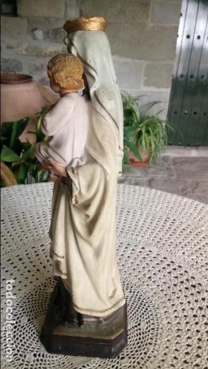 Arte: Antigua Virgen del Carmen con niño Jesús y escapularios de Olot los años 20-30 - Foto 9 - 140805134