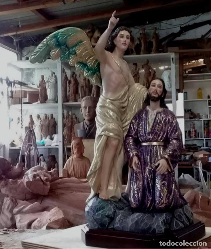 Arte: ESCULTURA JESUS Y ANGEL ORACION HUERTO - Foto 5 - 140817726