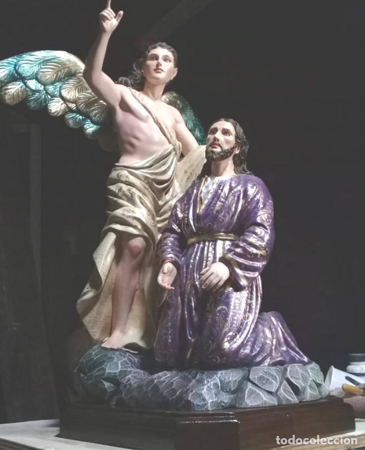 ESCULTURA JESUS Y ANGEL ORACION HUERTO (Arte - Arte Religioso - Escultura)
