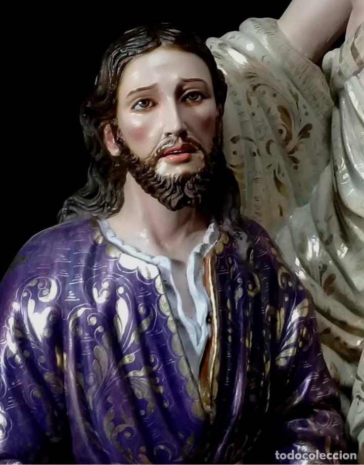 Arte: ESCULTURA JESUS Y ANGEL ORACION HUERTO - Foto 3 - 140817726