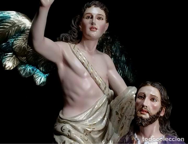 Arte: ESCULTURA JESUS Y ANGEL ORACION HUERTO - Foto 2 - 140817726