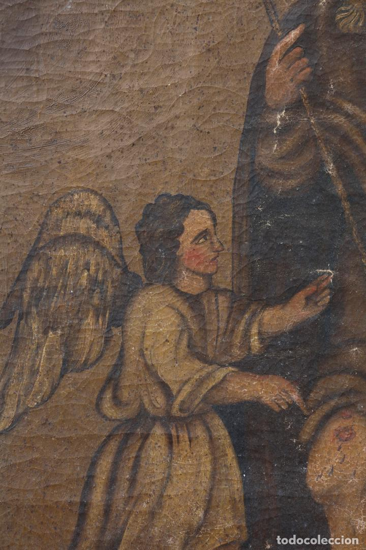 Arte: San Roque, pintura al óleo sobre tela, siglo XX. 70x94,5cm - Foto 2 - 140842566