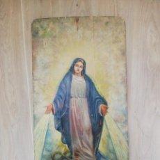 Arte - PINTURA SOBRE TABLA INMACULADA CONCEPCIÓN S.XIX - 140878306