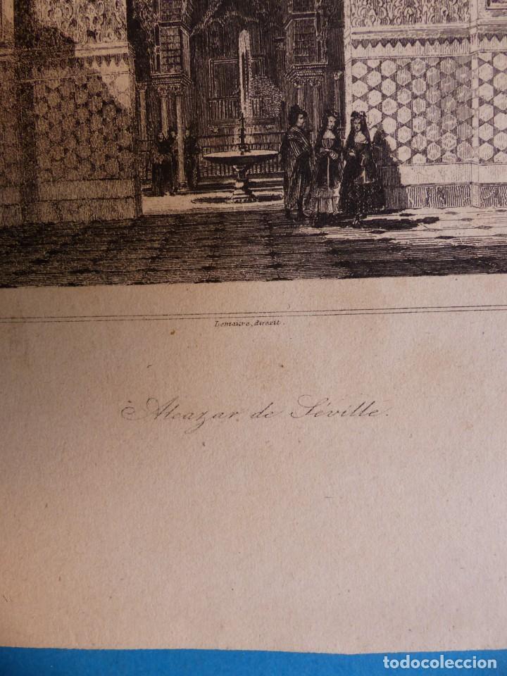 Arte: SEVILLA, ALCAZAR - PRECIOSO GRABADO - AÑOS 1860-1890 - Foto 3 - 140912406