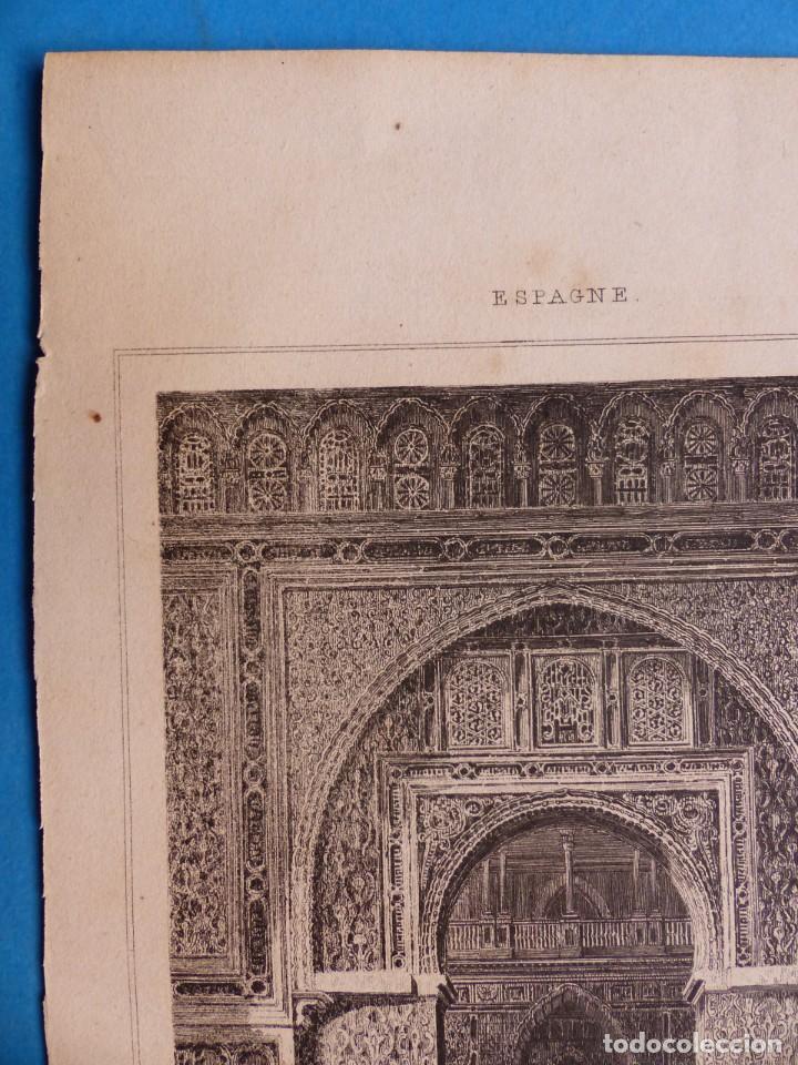 Arte: SEVILLA, ALCAZAR - PRECIOSO GRABADO - AÑOS 1860-1890 - Foto 4 - 140912406