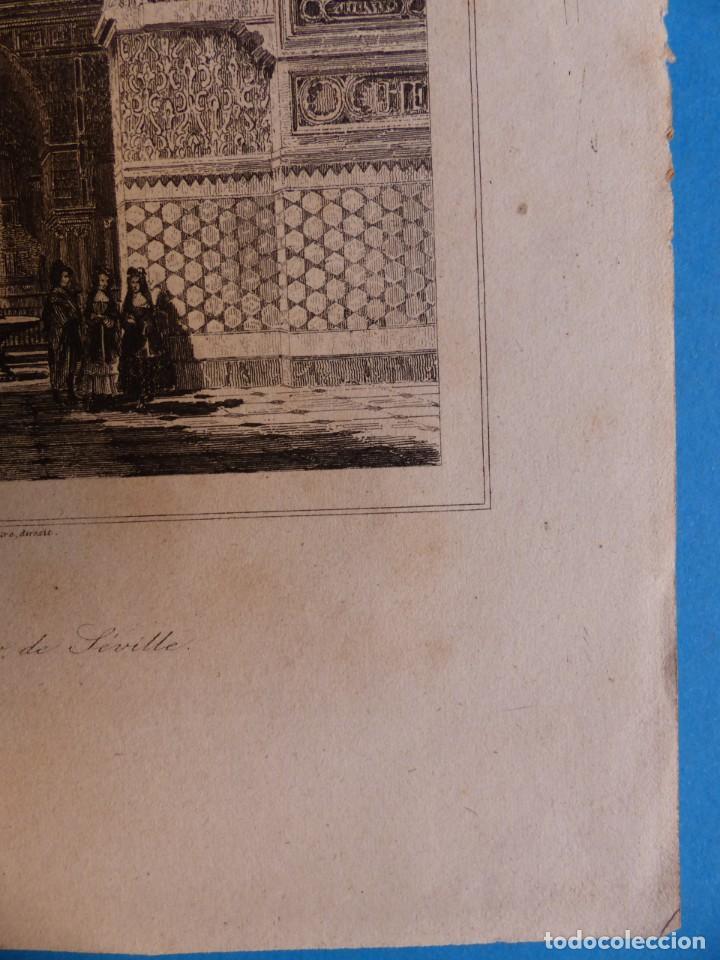 Arte: SEVILLA, ALCAZAR - PRECIOSO GRABADO - AÑOS 1860-1890 - Foto 6 - 140912406