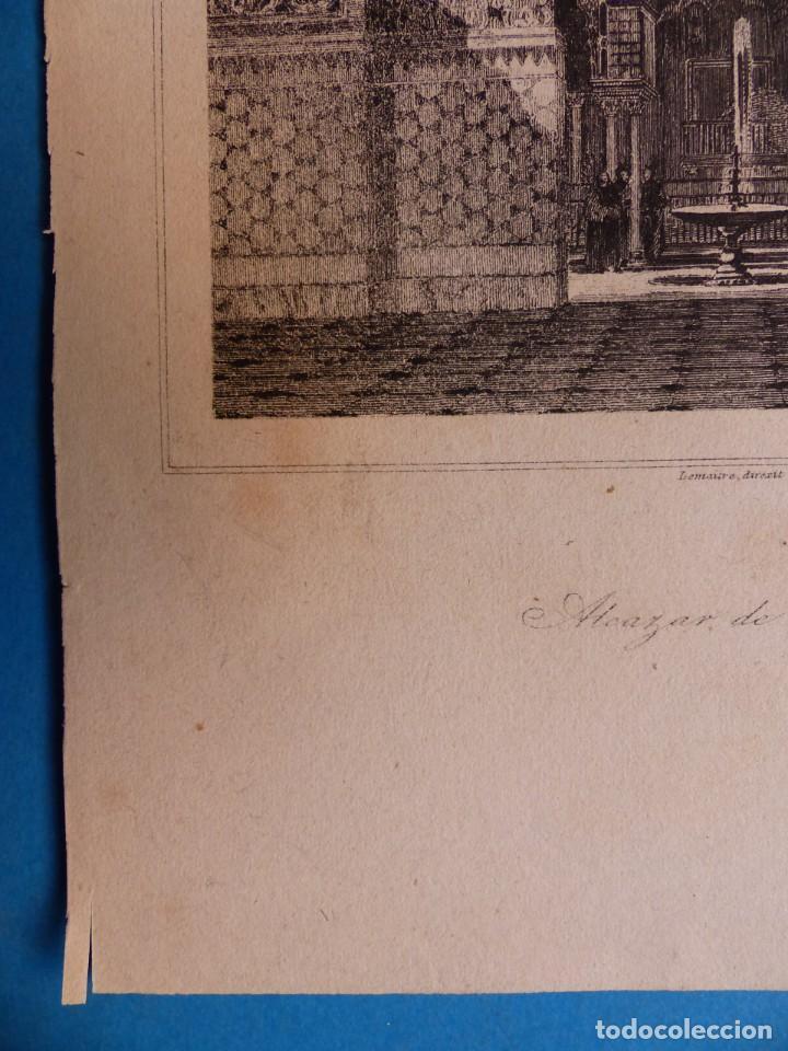 Arte: SEVILLA, ALCAZAR - PRECIOSO GRABADO - AÑOS 1860-1890 - Foto 7 - 140912406