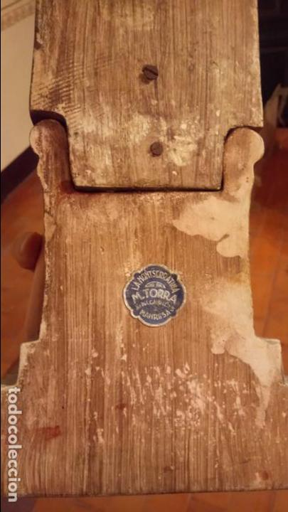 Arte: Antiguo Cristo Rey / Sagrado Corazón sentado en trono de escayola de los años 30-40 - Foto 11 - 158688808