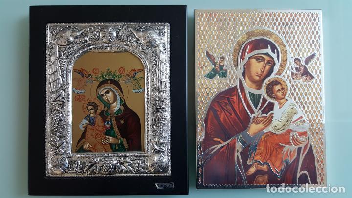 ANTIGUOS ICONOS RELIGIOSOS EN PLATA DE LEY DE LA CASA CLARTE (Arte - Arte Religioso - Iconos)