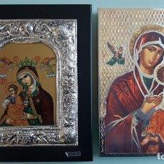 Arte: ANTIGUOS ICONOS RELIGIOSOS EN PLATA DE LEY DE LA CASA CLARTE. Lote 141115010