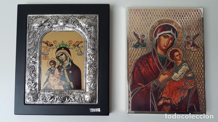 Arte: ANTIGUOS ICONOS RELIGIOSOS EN PLATA DE LEY DE LA CASA CLARTE - Foto 2 - 141115010