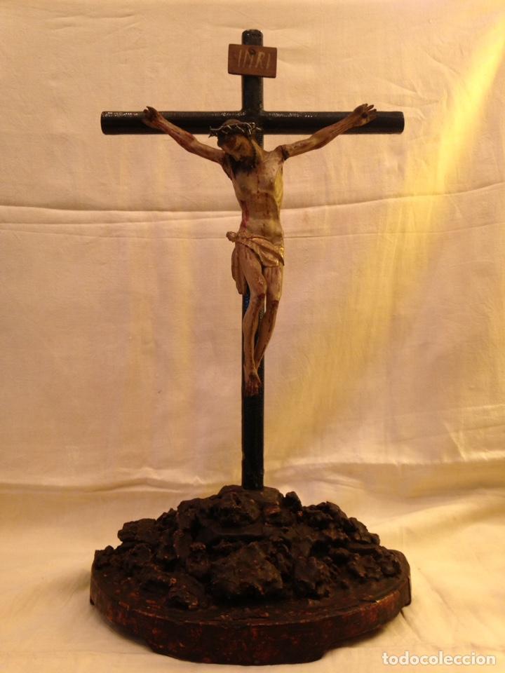Arte: Cristo crucificado talla madera siglo XVIII - Foto 2 - 141177484