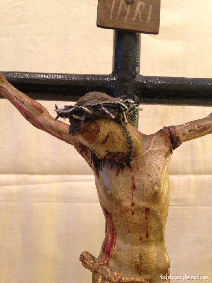 Arte: Cristo crucificado talla madera siglo XVIII - Foto 5 - 141177484