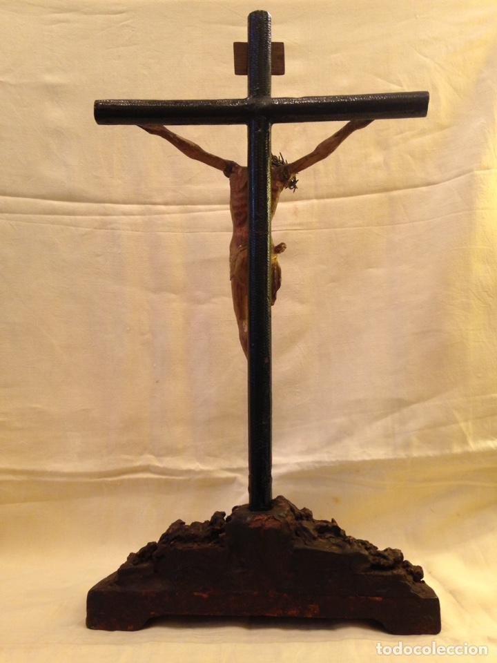 Arte: Cristo crucificado talla madera siglo XVIII - Foto 8 - 141177484