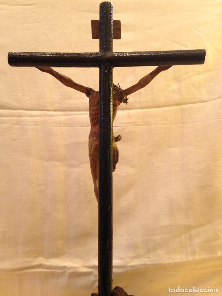 Arte: Cristo crucificado talla madera siglo XVIII - Foto 9 - 141177484