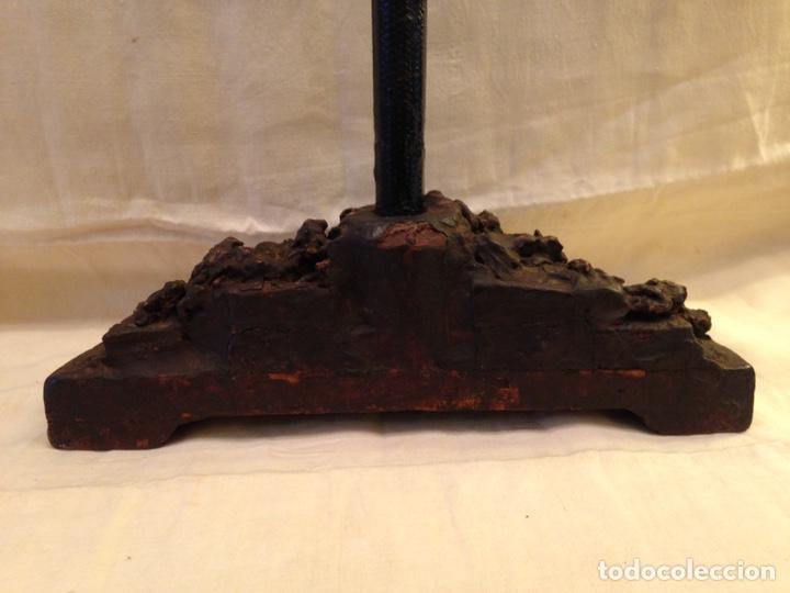 Arte: Cristo crucificado talla madera siglo XVIII - Foto 13 - 141177484