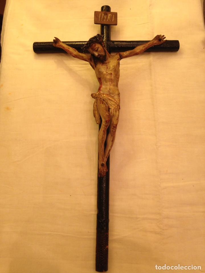 Arte: Cristo crucificado talla madera siglo XVIII - Foto 22 - 141177484