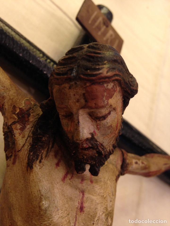 Arte: Cristo crucificado talla madera siglo XVIII - Foto 26 - 141177484