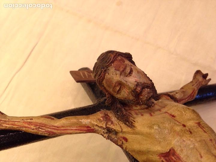 Arte: Cristo crucificado talla madera siglo XVIII - Foto 27 - 141177484