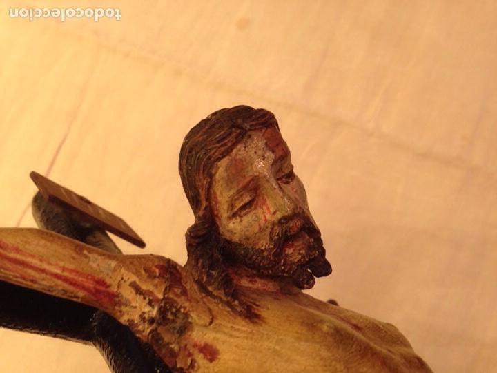 Arte: Cristo crucificado talla madera siglo XVIII - Foto 29 - 141177484