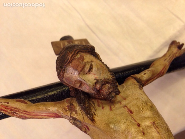 Arte: Cristo crucificado talla madera siglo XVIII - Foto 31 - 141177484