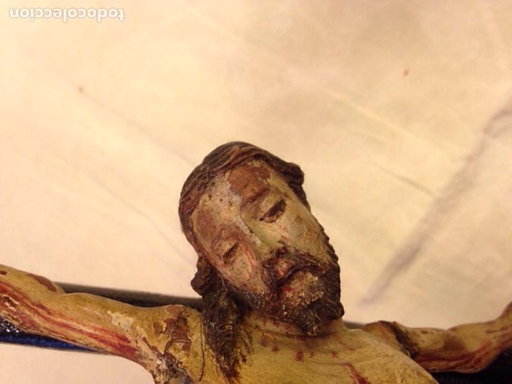 Arte: Cristo crucificado talla madera siglo XVIII - Foto 32 - 141177484