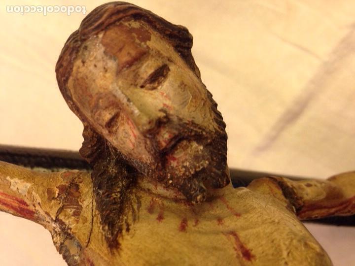 Arte: Cristo crucificado talla madera siglo XVIII - Foto 33 - 141177484