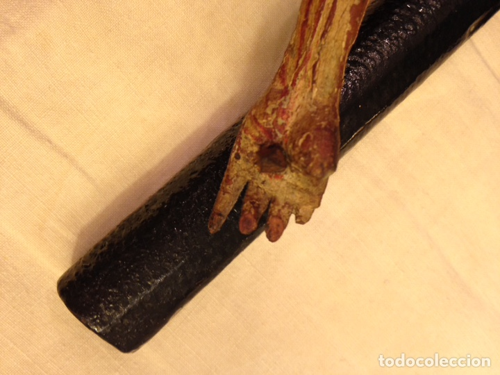 Arte: Cristo crucificado talla madera siglo XVIII - Foto 34 - 141177484