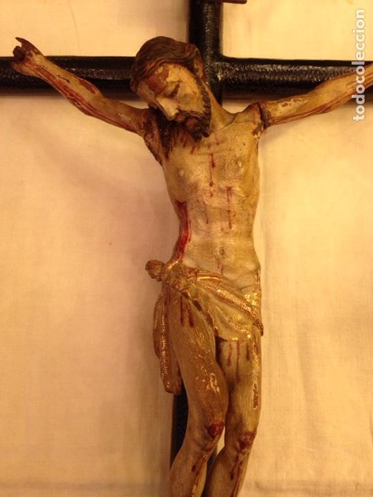 Arte: Cristo crucificado talla madera siglo XVIII - Foto 40 - 141177484