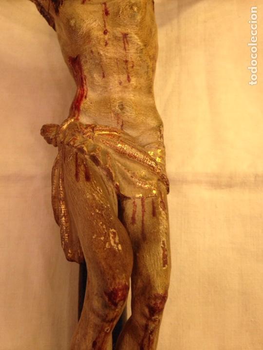 Arte: Cristo crucificado talla madera siglo XVIII - Foto 42 - 141177484