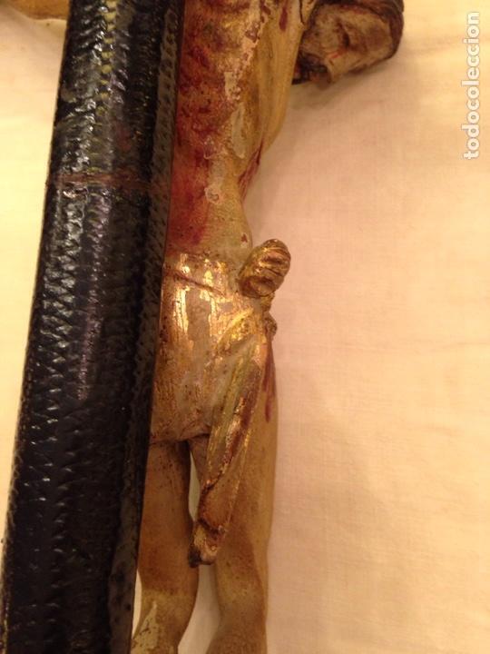 Arte: Cristo crucificado talla madera siglo XVIII - Foto 47 - 141177484