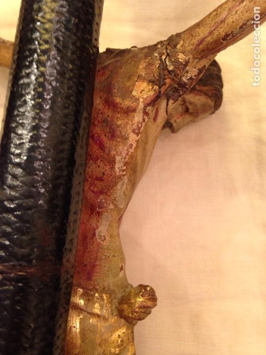 Arte: Cristo crucificado talla madera siglo XVIII - Foto 53 - 141177484