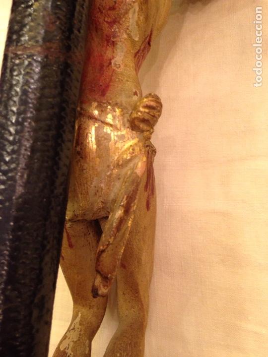 Arte: Cristo crucificado talla madera siglo XVIII - Foto 54 - 141177484