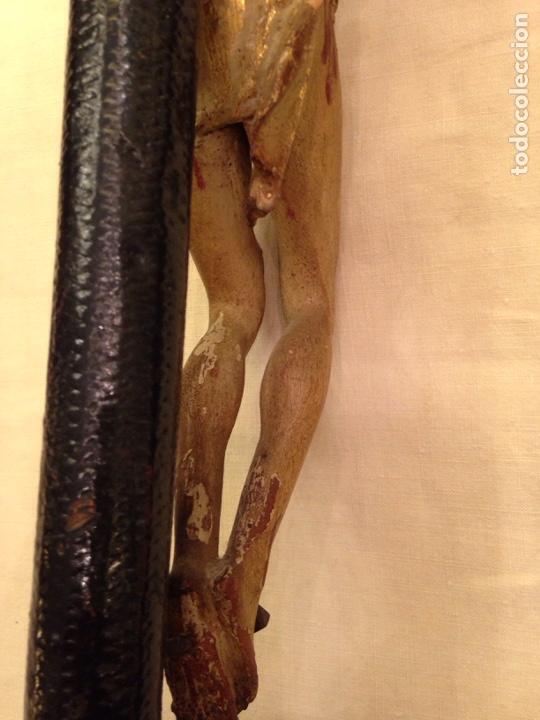 Arte: Cristo crucificado talla madera siglo XVIII - Foto 55 - 141177484