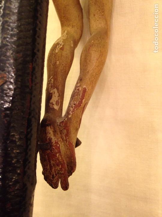 Arte: Cristo crucificado talla madera siglo XVIII - Foto 56 - 141177484