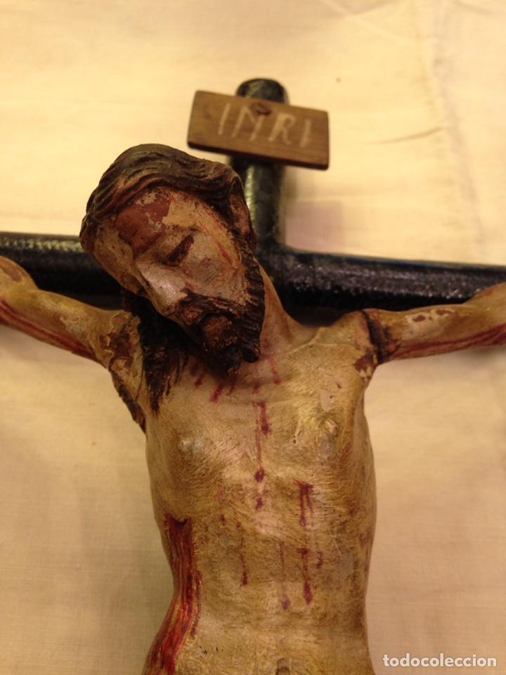 Arte: Cristo crucificado talla madera siglo XVIII - Foto 60 - 141177484
