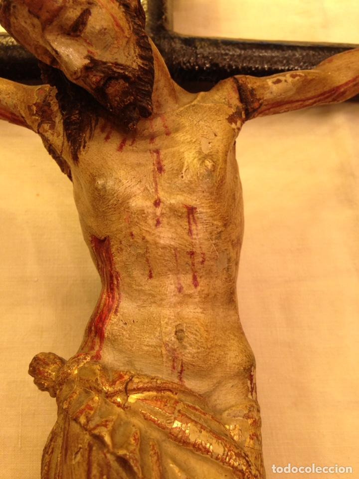 Arte: Cristo crucificado talla madera siglo XVIII - Foto 61 - 141177484