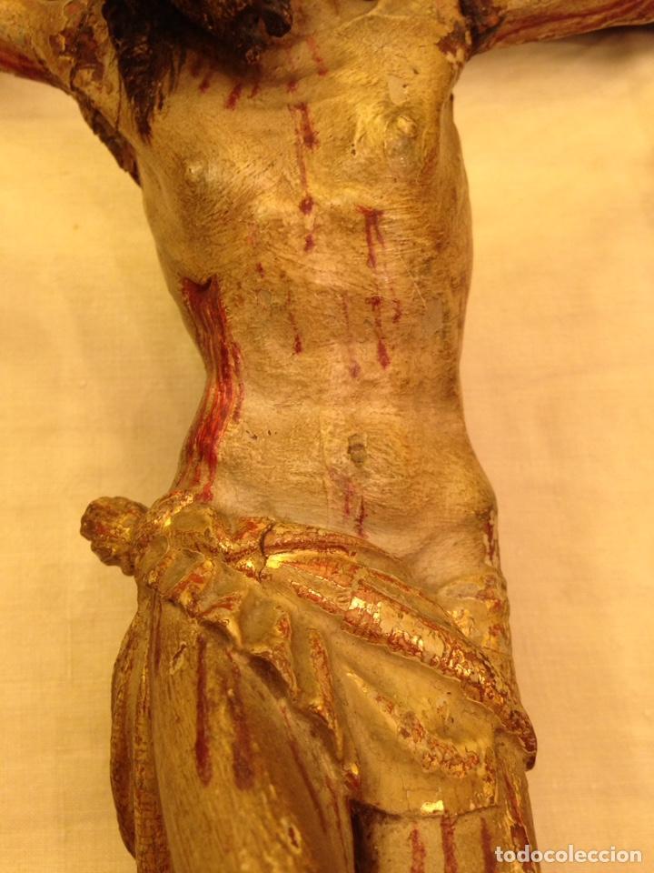 Arte: Cristo crucificado talla madera siglo XVIII - Foto 62 - 141177484