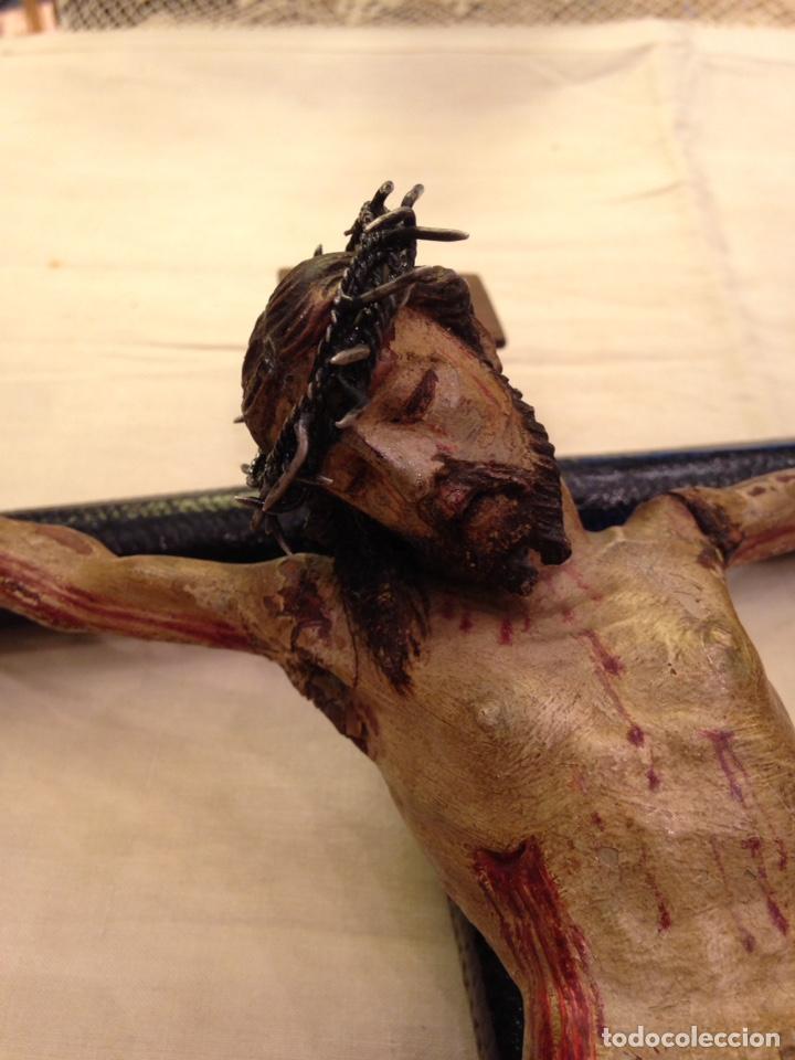 Arte: Cristo crucificado talla madera siglo XVIII - Foto 67 - 141177484