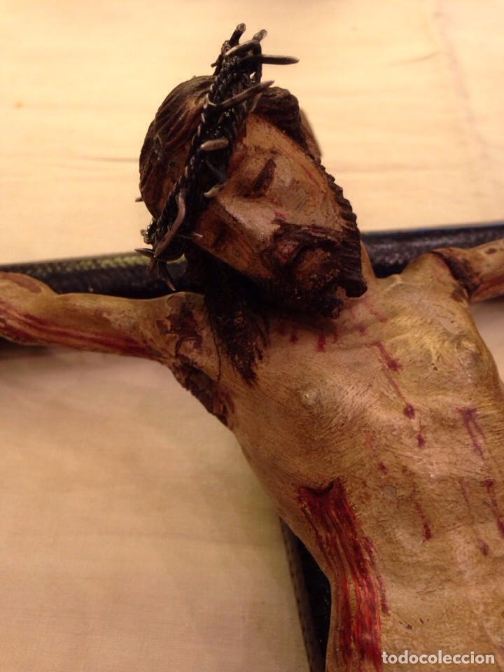 Arte: Cristo crucificado talla madera siglo XVIII - Foto 68 - 141177484