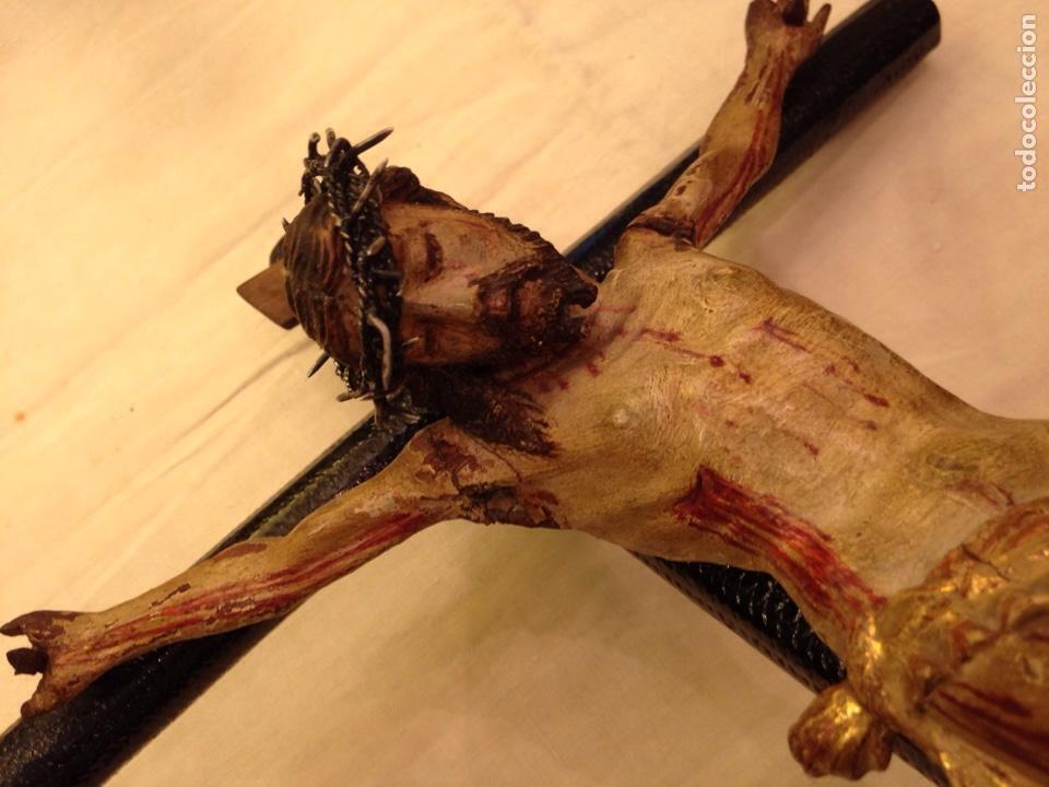 Arte: Cristo crucificado talla madera siglo XVIII - Foto 69 - 141177484