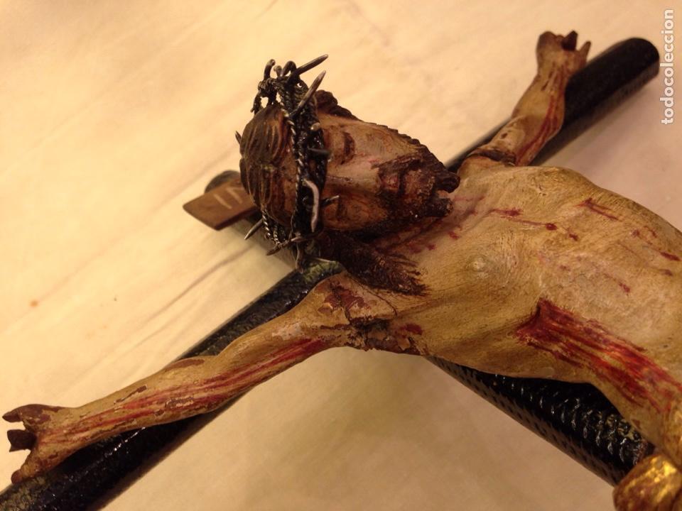 Arte: Cristo crucificado talla madera siglo XVIII - Foto 70 - 141177484